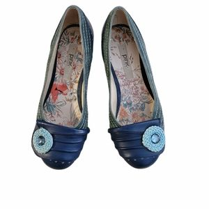 """PINK STUDIO """"Isabel"""" low heel slip ons."""